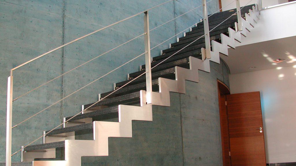 Edelstahl Treppe